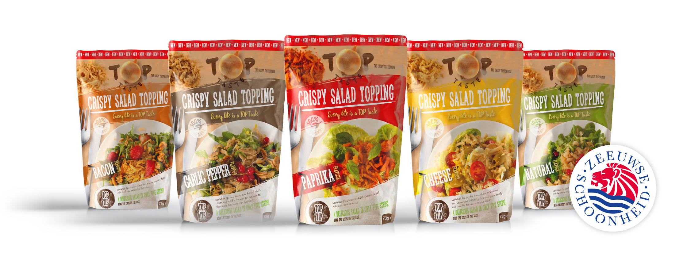 THE CRISPY TASTEMAKER ∙ SALAD TOPPING ∙ FIVE FLAVOURS